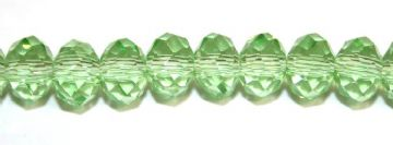 150pcs x 3mm Light green faceted glass rondelle beads -- S.G06 -- 3005649